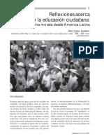 Reflexión Acerca de La Educación Ciudadana