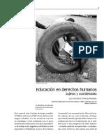 Educación en derechos humanos... sujetos y coordenadas