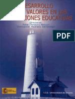 Desarrollo de los valores en las instituciones educativas