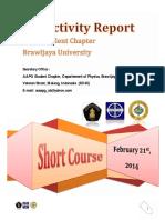 Activity Report (ShortCourseI) AAPG UB SC 2013