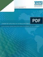 CALIDAD DE LA ESCRITURA EN LA EDUCACIÓN BÁSICA