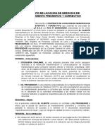 Contrato de Locacion de Servicios de Mantenimiento Preventivo y Correctivo