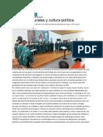 Angelina Uzin Olleros, Políticas Culturales y Cultura Política
