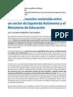 Declaración de diversos frentes de la Izquierda Autónoma