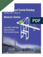 Dockside Container Crane Workshop Mechanical