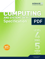Specification Computing and Systems Development Specification