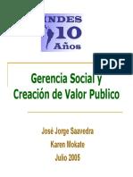 La Gerencia Social y El Valor Publico Mokate y Saavedra