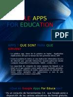 Presentacion Google Apps for Education