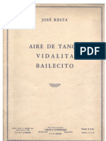 Aire de Tango, Vidalita, Bailecito -  for piano, by Jose Resta. (sheet music)