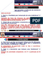sindicancia  - 1ª e 2ª Evoluções