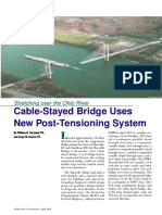 Cable stayed bridge uses new post tensioning system