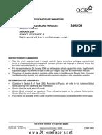 A GCE Physics B 2865 01 January 2006 Advance Notice Article