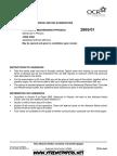 A GCE Physics B 2865 01 June 2006 Advance Notice Article