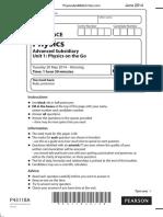 June 2014 QP - Unit 1 Edexcel Physics