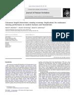 Calcaneus Length Determines Running Economy (2011)
