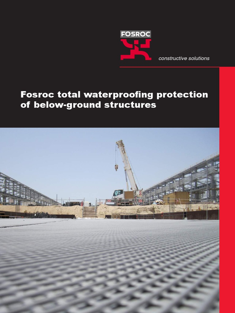Fosroc Below Ground Waterproofing Brochure | Drainage | Concrete