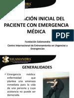 Evaluación Inicial Del Paciente Con Emergencia Médica