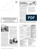 Lake Views Newsletter, Fall 2008, Lake Beulah Protective Association