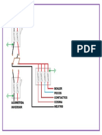 diagrama de dos fuentes electricas para residencia