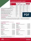 CCAC SUMMER 2016 Academic Calendar