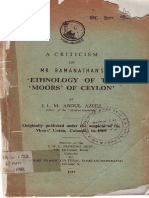 A Criticism of Mr.ramanathan's Ethnology of the 'Moors' of Ceylon