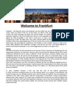 Welcome to Frankfurt