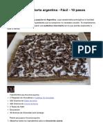 Receta de Chocotorta Argentina - Fácil - 10 Pasos