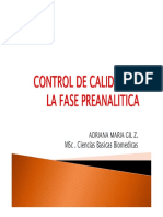 Contol Calidad Fase Preanalitica 2015
