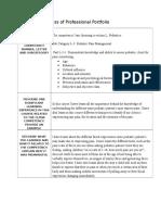 report on progress of professional portfolio assignemnt 2 pediatrics