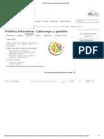 Política Educativa_ Liderazgo y Gestión _ IAEU