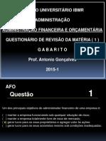 Afo - Questionário1 - Respostas