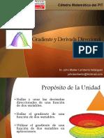 El gradiente y la derivada direccional