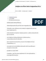 Dirección Estratégica en Fiat Auto Argentina S.a. • GestioPolis — Www.gestiopolis
