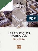 Les Politiques Publiques - Muller Pierre