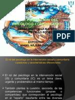 Rol y Formación Del Psicólogo Comunitario