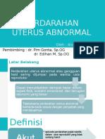 Perdarahan Uterus Abnormal