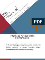 Procesos psicosociales
