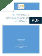 Actividad No. 1 - Configurando El Entorno de Trabajo