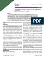 Dentinpulp Complex Regeneration Therapy Following Pulp Amputation 2379 1764 1000153