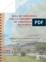 Guia Metodologica de Comunidades Saludables. MINSA. 2005