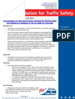AAA Foundation for Traffic Safety - Evaluation of Data from Drivers Arrested for Driving Under the Influence in Relation to Per se Limits for Cannabis.