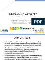 Uvm-systemc in Coside - Coside Ugm 2015