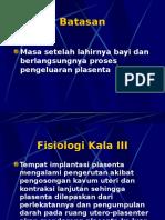 Fisiologi Kala III