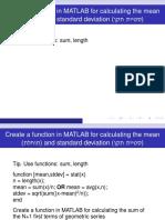 Useful MATLAB Functions