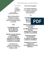 Cancion de La Matematicas