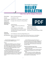 Scientology Belief Bulletin