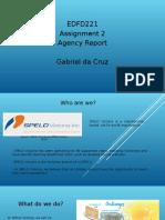 gabriel  da cruz s00147190 agency report - rubric