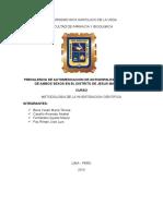 Prevalencia de Automedicacion de Antigripales en Personas de Ambos Sexos en El Distrito de Barranco