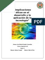 Implicaciones eticas en el desarrollo y la aplicacion de la tecnologia