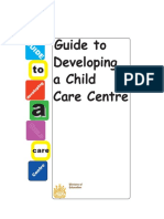 A Guide to Developing a Child Care Centre in Saskatchewan, Canada